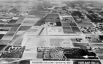 Van Nuys Air National Guard Base - Oblique westward view of Van Nuys Army Airfield, 12 September 1942.