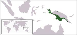 Varanus salvadorii - Image: Varanus salvadorii rangemap