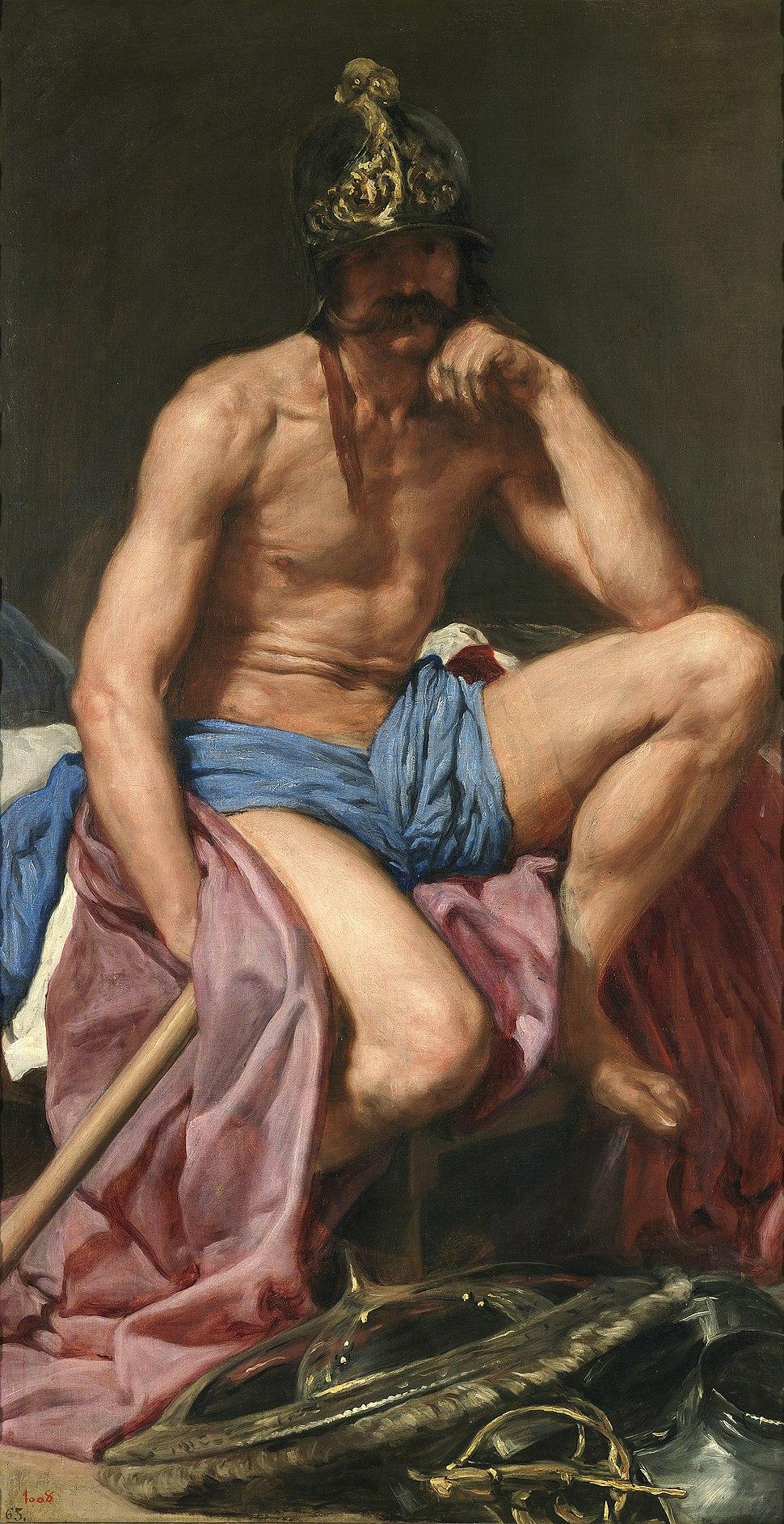 Velázquez - Dios Marte (Museo del Prado, c. 1638)