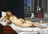 Venus de Urbino, por Tiziano.jpg
