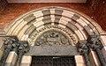 Vercelli, sant'andrea, chiostro, portale dell'agnus dei 02.jpg