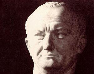 Chaves, Portugal - Titus Flavius Caesar Vespasianus Augustus, patron of Aquae Flaviae