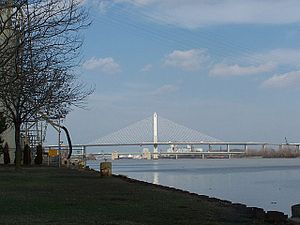 Maumee River - The Veterans' Glass City Skyway in Toledo, Ohio