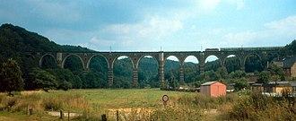 Dresden–Werdau railway - Hetzdorf Viaduct at the beginning of the 1990s
