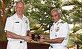 Vice Admiral Sunil Lanba presenting a memento to Rear Admiral Jack Steer.jpg