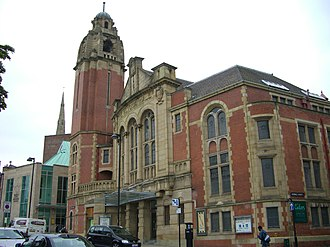 Victoria Hall, Sheffield - An alternative view seen from the junction of Nofolk Street and Arundel Gate.