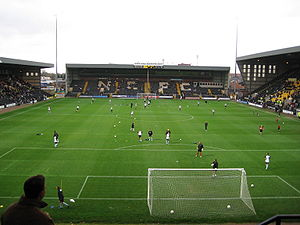 Der Haydn Green Family Stand (Mitte) in der Meadow Lane in Nottingham