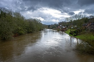 Jackfield - View from the Free bridge down river