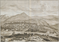 View of Shamakhi, by de Bruyn, 1714.png
