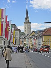 Near the center of Villach