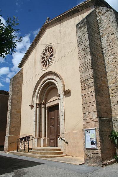 Villeveyrac (Hérault) - portail de l'église Notre-Dame-de-l'Assomption.