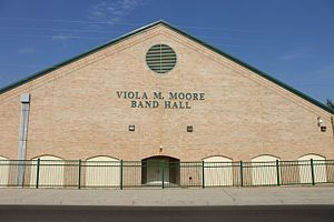 J. W. Nixon High School - Viola M. Moore Band Hall is named after a former J. W. Nixon principal.