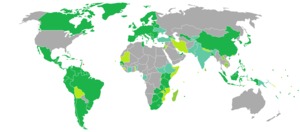 Barbados passport - Image: Visa requirements for Barbadian citizens