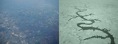 Confronto tra due foto identiche: a sinistra nel visibile e a destra nell'infrarosso con interposizione di un filtro passa basso alla lunghezza d'onda di 900nm
