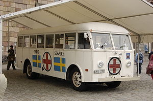 English: One of the original White Buses, kept...