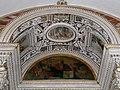 Viterbo, santa maria della quercia, interno, coro, altare cinquecentesco di pompeo e michele alberti 03 lunetta di fra paolino con dio padre.jpg