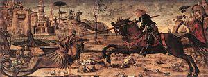 St. George and the Dragon (Carpaccio) - Image: Vittore carpaccio, san giorgio e il drago 01