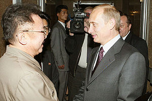 VLADIVOSTOK. President Putin with Kim Jong-Il,...