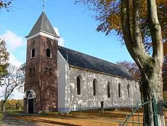 Vlagtwedde - Protestant Church in Vlagtwedde in 2007