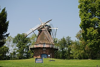 Volendam Windmill - Photo from Adamic Hill Rd on August 15, 2009