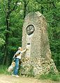 Von Eichendorff monument, Las Prudnicki, 06.1995r.jpg