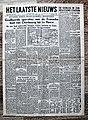 """Voorpagina Vlaams dagblad """"Het Laatste Nieuws"""" 7 Juni 1944.jpg"""
