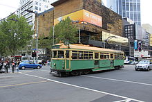 W7 1012 in La Trobe St on route 30.