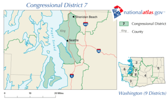 Washington's 7th congressional district - The district from 2003 to 2013
