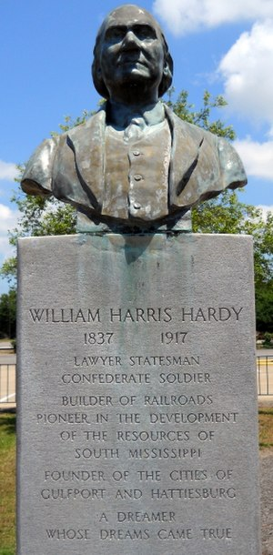 William H. Hardy - William H. Hardy Monument in Gulfport, Mississippi