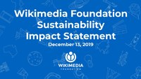 WMF Sustainability Impact Statement