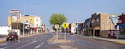 Dakota Avenue in downtown Wahpeton in 2007