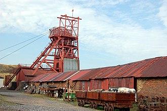 Mining in Wales - Big Pit museum at Blaenavon