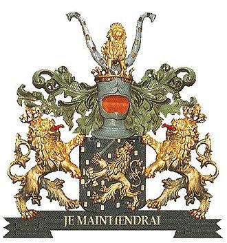 Coat of arms of the Netherlands - Image: Wapen van Koning Willem I met helmteken