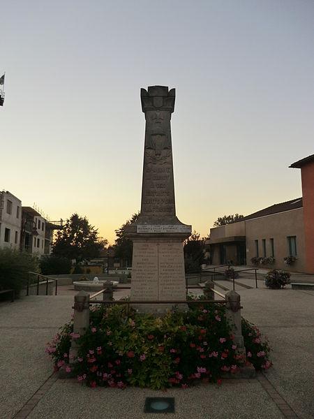 War memorial of Saint-André-de-Corcy.