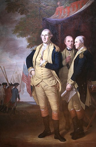 Maryland State House - Image: Washington, Lafayette & Tilghman at Yorktown