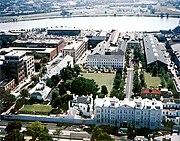 Washington Navy Yard aerial view 1990, looking south