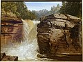 Waterfall and Rocks Near Lake George, by John Frederick Kensett, 1872, oil on canvas - Currier Museum of Art - Manchester, NH - DSC07464.jpg