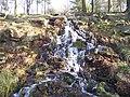 Waterfall on the Longshaw Estate - geograph.org.uk - 1971798.jpg