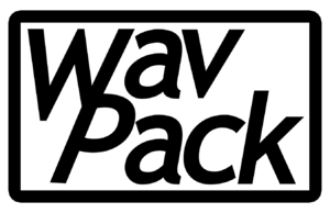 English: WavPack monochrome logo in bitmap for...