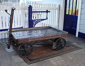 Weighing machine and ancient freight trolley T...