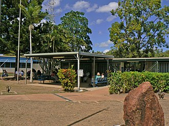 Weipa Town - Departure lounge, Weipa Airport, 2007