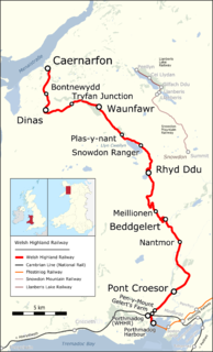 Welsh Highland Railway heritage railway in the Welsh county of Gwynedd