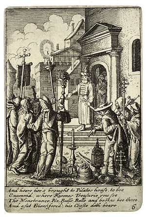Wenceslas Hollar - Jesus before Pilate