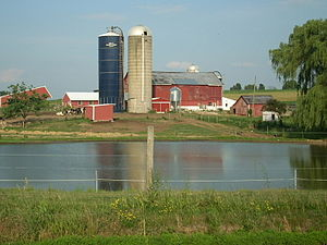 West Buffalo Township, Union County, Pennsylvania - There are many dairy farms like this in West Buffalo Township.
