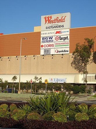 Westfield Eastgardens - Western entrance taken before David Jones' and Franklins's space was taken over by Myer and Aldi in 2008