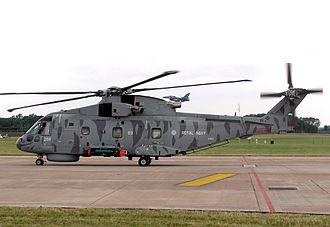 AgustaWestland AW101 - A Merlin HM1 loaded with a Sting Ray torpedo