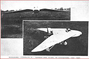 Westland-Hill Pterodactyl - Pterodactyl 1A (''Flight'' 1928)