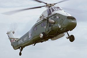 781 Naval Air Squadron - A Westland Wessex HU.5 of 781 NAS in flight during 1975.