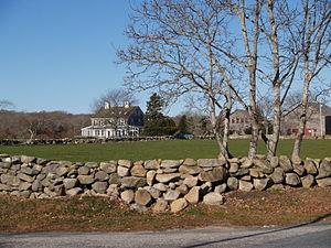 Westport, Massachusetts - Stone wall and field scene, Westport
