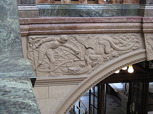 Dragon of Wantley - Slaying the Wharncliffe Dragon, Sheffield Town Hall